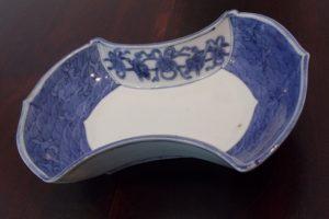 藍九谷 分銅型 平向付